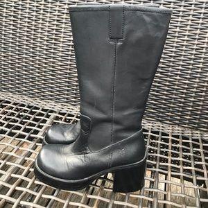 Frye Dorian 90's Vintage Black Platform Boots